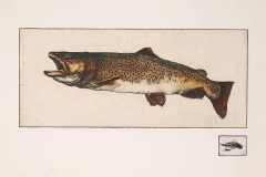 Jack Cowin, Fire Hole Brown, 1981, Hand-Colored Etching, 28.5x22.5in, Value: $1650