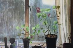 June Yun, Seven Oaks, 2010, Oil on Canvas, 20x24in