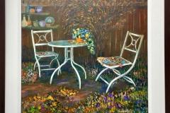 Margreth Fry, Happy Corner, 2018, Acrylic, 31x31in, Value: $600