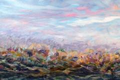 Ted Hesketh, Along the Dyke, 2016, Acrylic on Deep Canvas, 20x30in,  Value: $2000
