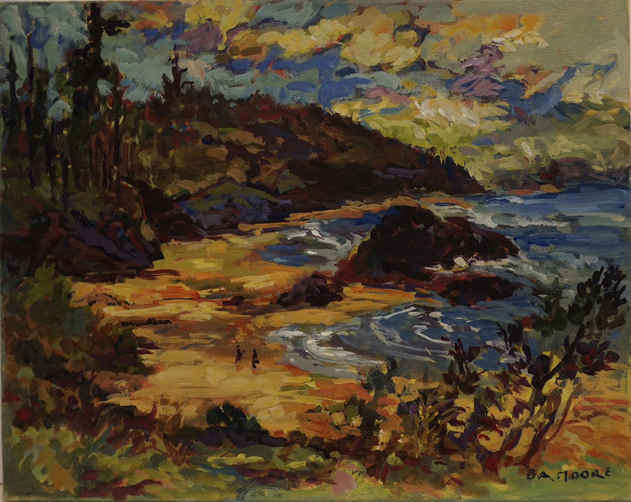 "Adrienne Moore, ""Nye Beach Oregon"", 2014, Acrylic on Canvas, 16 x 20 inches. Estimate: $650"