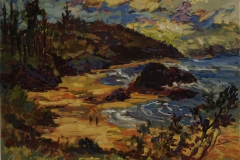 "Adrienne Moore, ""Nye Beach Oregon"", 2014, Acrylic on Canvas, 16 x 20 inches. Estimate: $650"