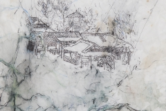 "Tony Yin Tak Chu, ""Rainy Day in Jiangnan"", 2014, Mixed Media on Tracing Paper, 20 x 16 inches. Estimate: $400"