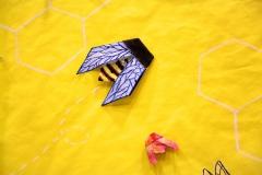 Origami Bee Installation