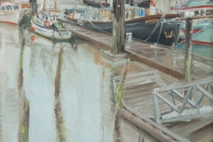 Jennifer Heine, Seen from the Seine, Oil on Canvas (Framed), 16x12in Value: $550