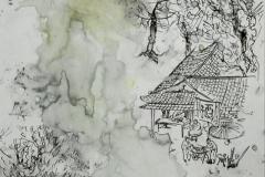 Tony Yintak Chu,Liu Shui , #23,  2014, Mixed Media