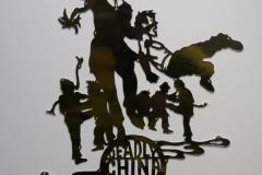 Karen Tam, Deadly China Doll, 2012, Mirror Paper, 9 x 6.5in, Value: $1200 (framed)