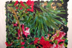 Fernanda Levine, Garden Series, 2016, Acrylic on paper, 20x16in, Value: $900 (courtesy of Back Gallery Project)