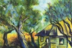 Susan Viccars, Terra Nova Farmhouse, 2019, Acrylic on canvas, Value: $125