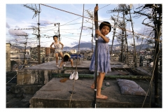 Greg Girard, Kowloon Walled City, Children on Rooftop, 1989, Archival Pigment Print, 11x14in, Limited Ed. of 20, Value: $450 Framed