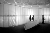Deborah Koenker adrift a sculptural installation