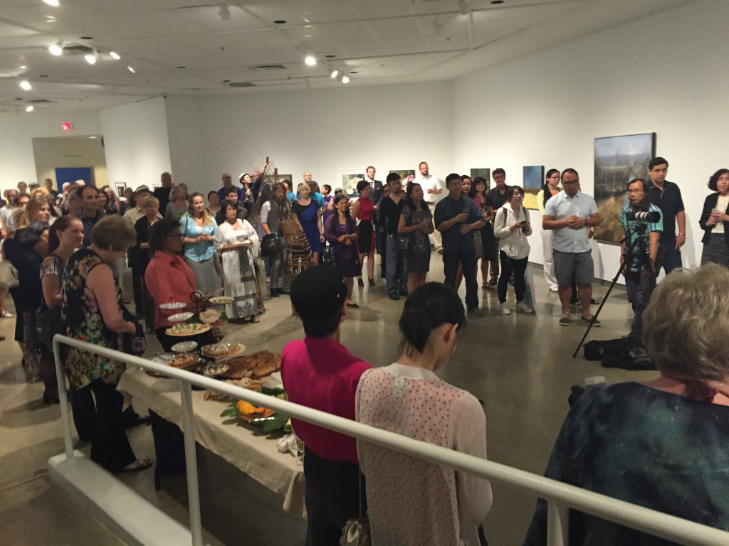 Opening reception for ArtRich 2015, July 2015
