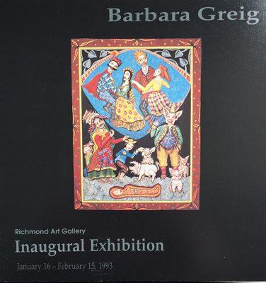 Barbara Greig brochure